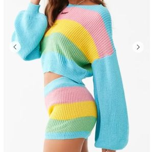 Rainbow sweater set from forever21